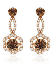 Load image into Gallery viewer, Brand New Earring with 1.54ctw of Precious Stones - diamond and diamond 18K Rose gold