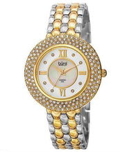 Load image into Gallery viewer, burgi BUR125 Brand New Quartz Watch with 0.04ctw of Precious Stones - crystal, diamond, and mother of pearl