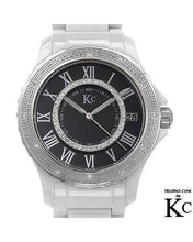 Load image into Gallery viewer, KC WA005023 Brand New Quartz date Watch with 0.35ctw of Precious Stones - diamond and mother of pearl
