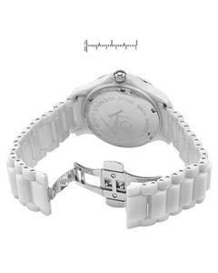 KC WA005023 Brand New Quartz date Watch with 0.35ctw of Precious Stones - diamond and mother of pearl