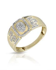 Brand New Ring with 0.17ctw diamond 10K Yellow gold