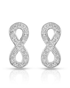 Brand New Earring with 0.18ctw diamond 10K White gold