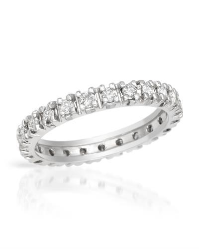 Brand New Ring with 0.7ctw diamond 14K White gold