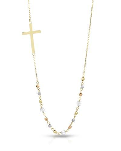 Millana Brand New Necklace with 0ctw crystal 14K Three tone gold