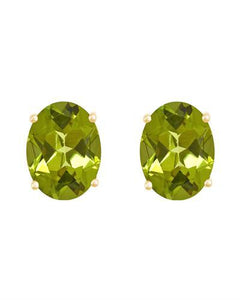Brand New Earring with 2.7ctw peridot 14K Yellow gold