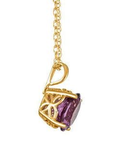 Brand New Necklace with 1.3ctw amethyst 14K Yellow gold