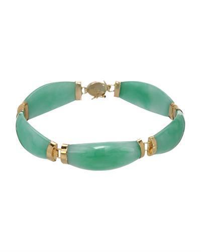 Brand New Bracelet with 0ctw jade 14K Yellow gold