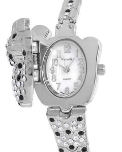 Varsales V4827-1 Brand New Japan Quartz Watch with 0ctw of Precious Stones - crystal and mother of pearl