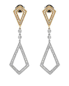 Brand New Earring with 0.5ctw diamond 14K Two tone gold