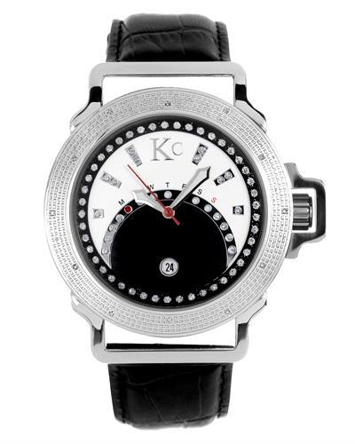KC WA008476 Brand New Japan Quartz day date Watch with 0.03ctw diamond