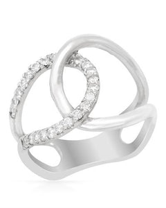 Brand New Ring with 0.35ctw diamond 14K White gold