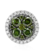 Load image into Gallery viewer, Brand New Pendant with 0.45ctw of Precious Stones - diamond and diamond 14K White gold