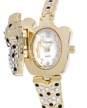 Load image into Gallery viewer, Varsales V4827-1 Brand New Japan Quartz Watch with 0ctw of Precious Stones - crystal and mother of pearl