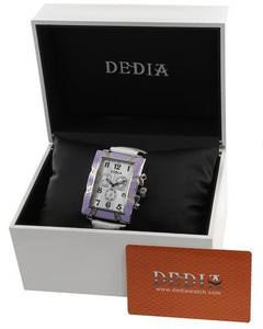 DEDIA 6201MR003 Lily MR Brand New Swiss Movement day date Watch with 0.15ctw of Precious Stones - diamond and mother of pearl
