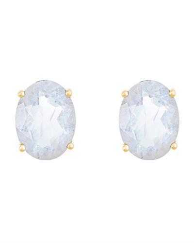 Brand New Earring with 2.88ctw moonstone 14K Yellow gold