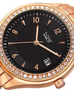 burgi BUR135RG Brand New Quartz date Watch with 0ctw crystal