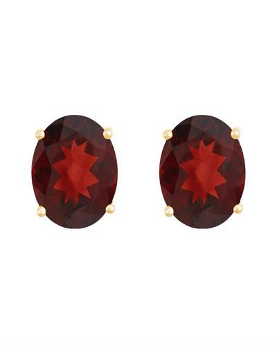 Brand New Earring with 2.8ctw garnet 14K Yellow gold