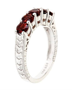 Brand New Ring with 1.5ctw garnet 925 Silver sterling silver