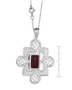 Brand New Necklace with 8ctw Rhodolite Garnet 925 Silver sterling silver