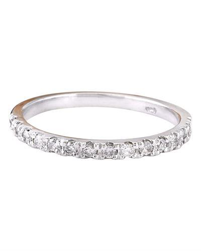 0.30 Carat Natural Diamond 14K Solid White Gold Ring