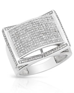 Lundstrom Brand New Ring with 1.15ctw diamond 10K White gold