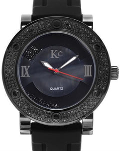 KC WA006330 Brand New Japan Quartz Watch with 1.25ctw of Precious Stones - crystal, diamond, and mother of pearl