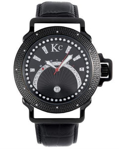 KC WA008477 Brand New Japan Quartz day date Watch with 0.03ctw diamond