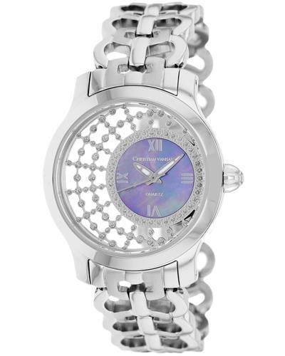Christian Van Sant CV4412 Delicate Brand New Quartz Watch with 0ctw mother of pearl