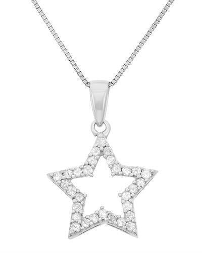 Brand New Necklace with 0.25ctw diamond 925 Silver sterling silver