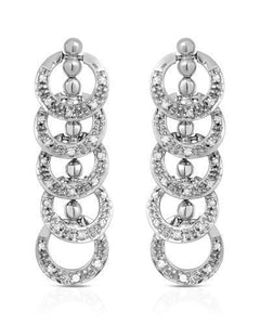Lundstrom Brand New Earring with 0.5ctw diamond 10K White gold