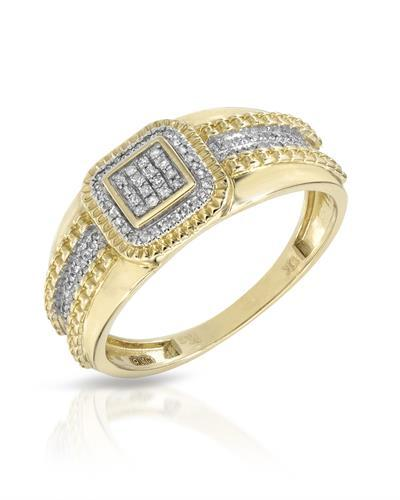 Brand New Ring with 0.16ctw diamond 10K Yellow gold