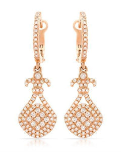 Brand New Earring with 0.75ctw diamond 14K Rose gold