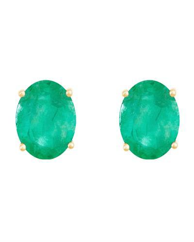 Brand New Earring with 2.2ctw emerald 14K Yellow gold