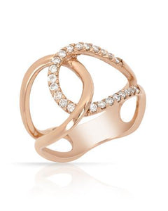Brand New Ring with 0.35ctw diamond 14K Rose gold
