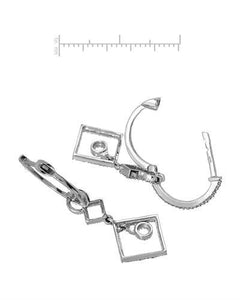 Lundstrom Brand New Earring with 0.75ctw diamond 10K White gold