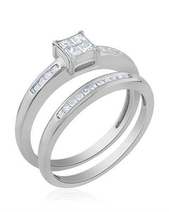 Brand New Ring with 0.4ctw diamond 14K White gold