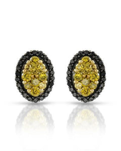 Brand New Earring with 0.48ctw of Precious Stones - diamond and diamond 10K White gold