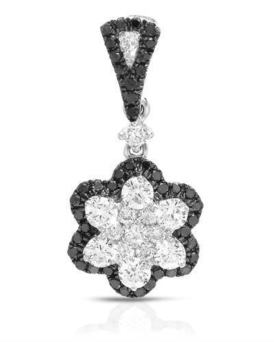 Brand New Pendant with 0.65ctw of Precious Stones - diamond and diamond 14K White gold