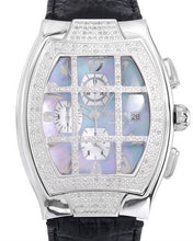 Load image into Gallery viewer, KC WA000166 Brand New Quartz day date Watch with 1ctw of Precious Stones - diamond and mother of pearl