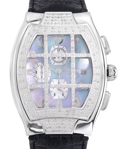 KC WA000166 Brand New Quartz day date Watch with 1ctw of Precious Stones - diamond and mother of pearl