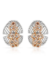 Load image into Gallery viewer, Brand New Earring with 0.7ctw diamond 18K Two tone gold