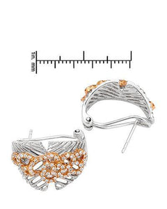 Brand New Earring with 0.7ctw diamond 18K Two tone gold