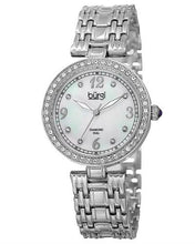 Load image into Gallery viewer, burgi BUR136SS Brand New Quartz date Watch with 0.04ctw of Precious Stones - crystal, diamond, and mother of pearl