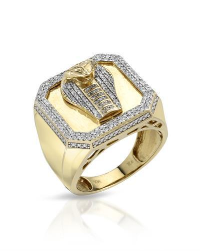 Brand New Ring with 0.55ctw diamond 10K Yellow gold