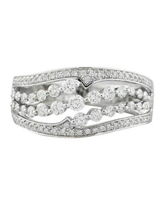 1.00 Carat Diamond 18K White Gold Ring