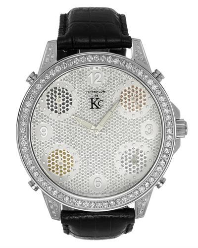 Techno Com by KC Brand New Japan Quartz Watch with 3ctw diamond