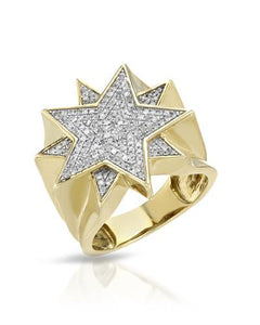 Brand New Ring with 0.51ctw diamond 10K Yellow gold