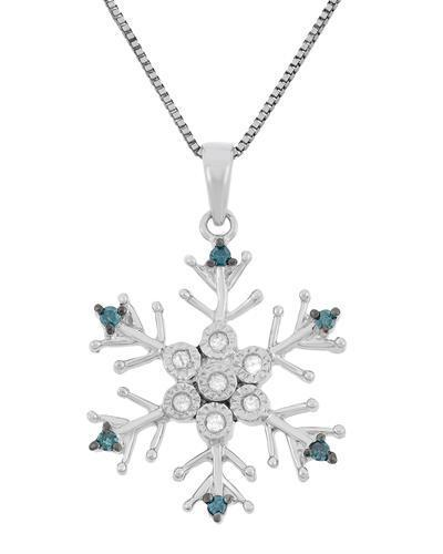 Brand New Necklace with 0.1ctw of Precious Stones - diamond and diamond 925 Silver sterling silver