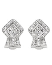 Load image into Gallery viewer, Brand New Earring with 0.5ctw diamond 14K White gold