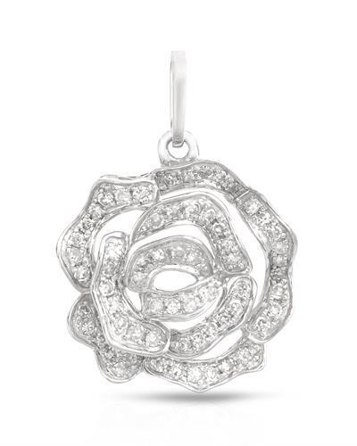 Brand New Pendant with 0.19ctw diamond 14K White gold